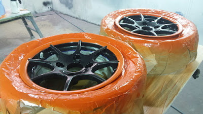 Masking on spokes removed to show what the wheels will look like