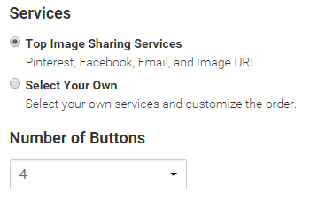 how to add share buttons in images addthis