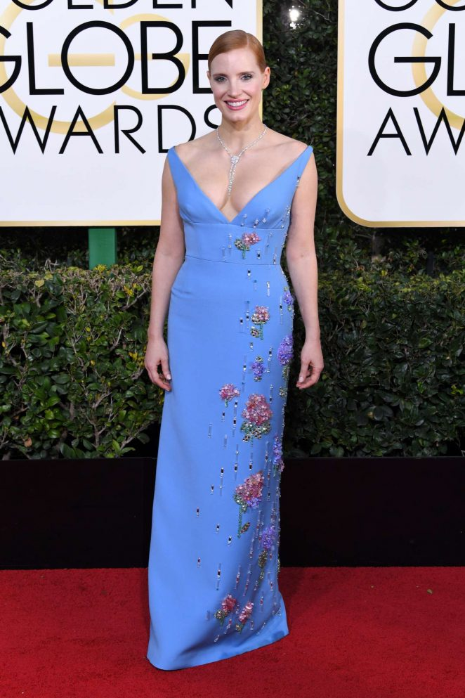 Jessica Chastain – 74th Annual Golden Globe Awards in Beverly Hills