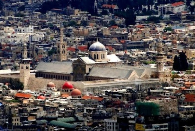Jejak Kekhalifahan Umayyah di Prancis, Kota Damaskus, Suriah, Pusat kekuasaan Dinasti Umayyah