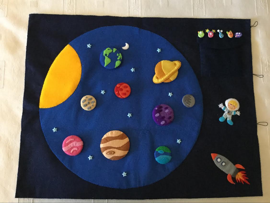 Agariguyi Complementos De Fieltro Sistema Solar De Fieltro