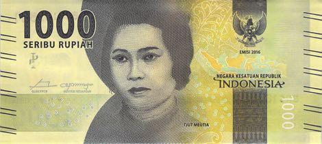 uang baru seribu rupiah 2016 depan