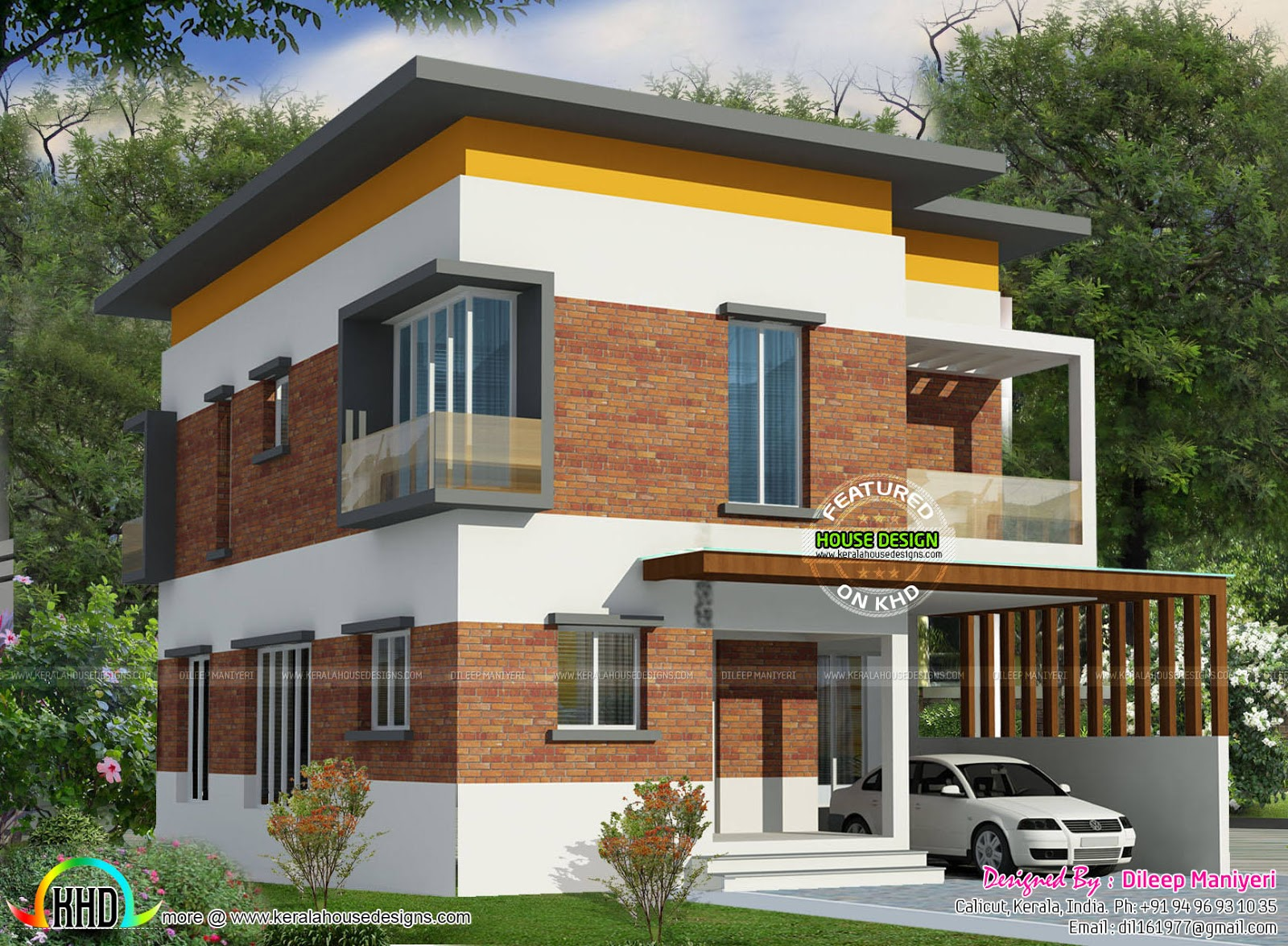 3 bedroom flat roof small home - Kerala home design and ...
