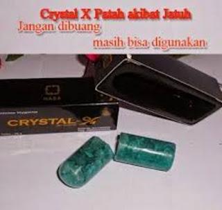 cara penggunaan crystal x, cara menggunakan crystal x yang patah, mengatasi crystal x yang patah, resiko crystal x patah, crystal x di pekanbaru, crystal x asli, crystal x original