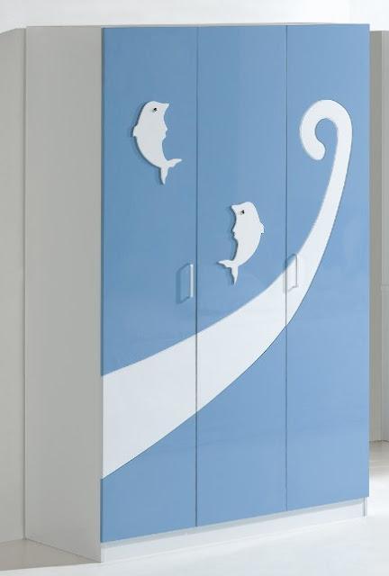 model lemari pakaian minimalis 3 pintu lucu