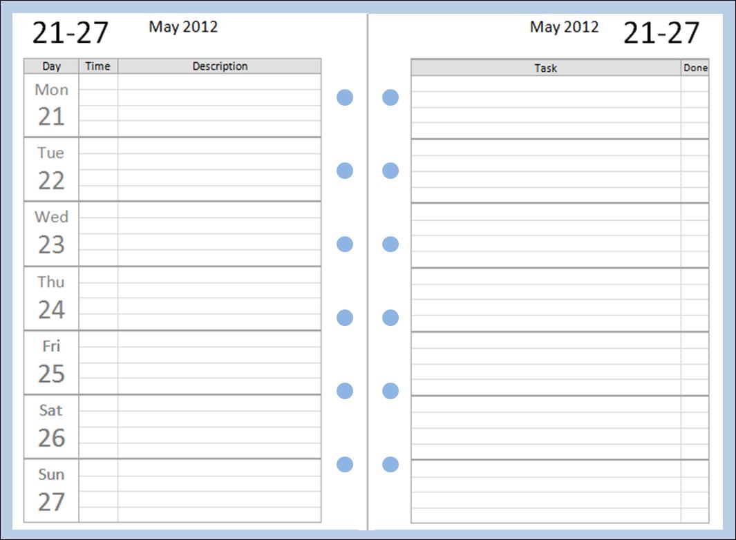 Philofaxy Free Pocket Filofax Diary Layouts To Download
