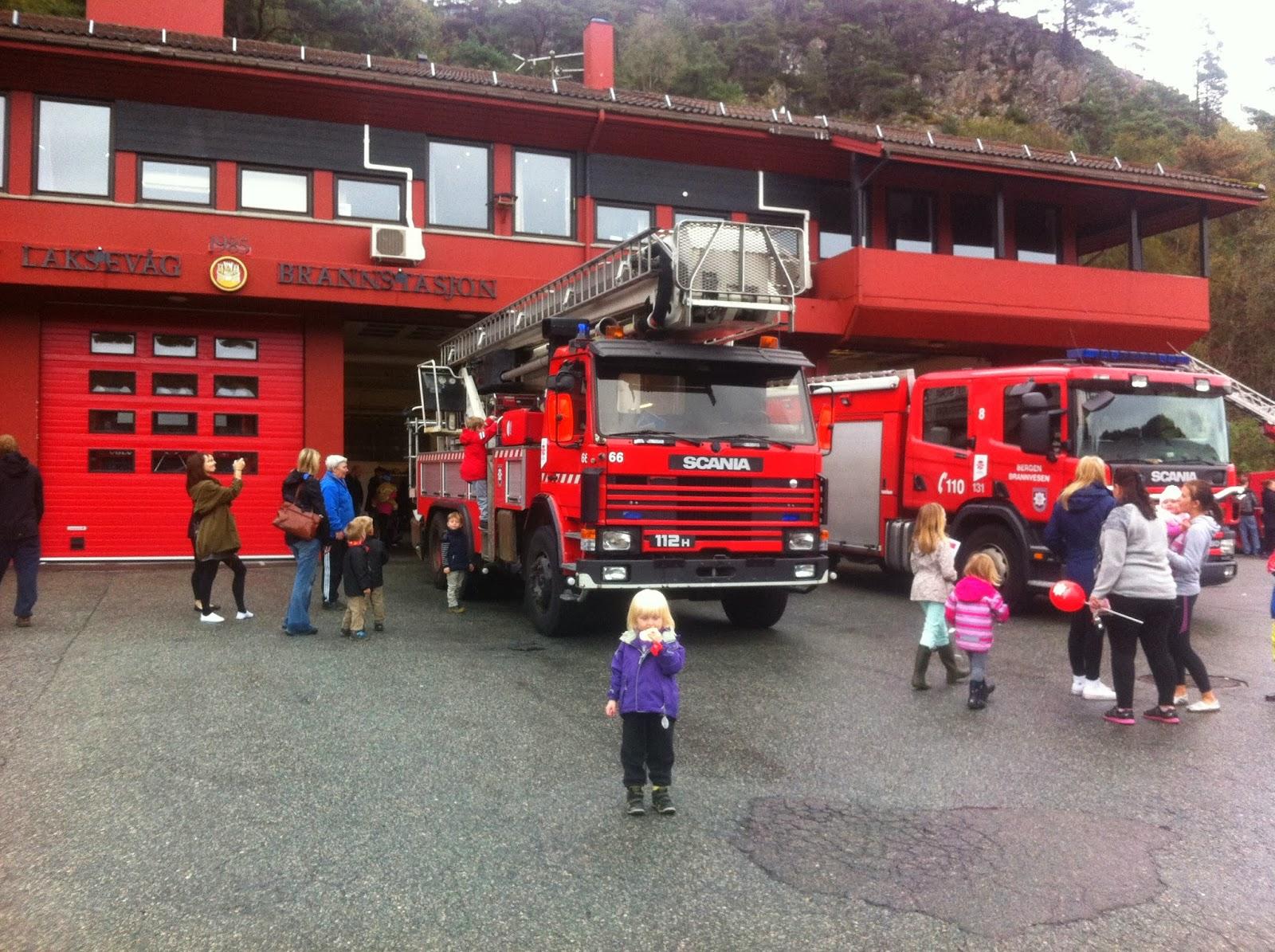 Herregård: Apen brannstasjon