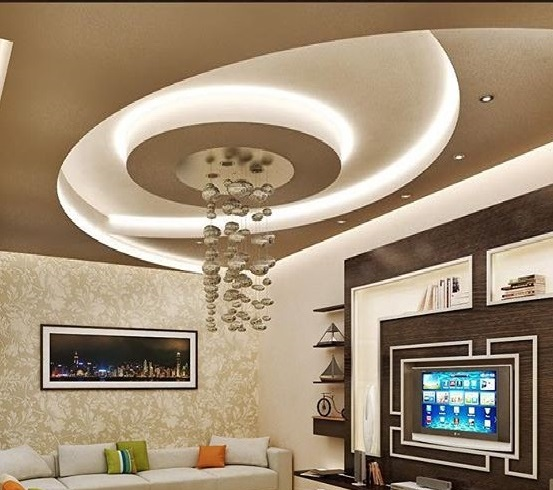Latest 50 pop false ceiling designs for living room hall 2018 for Latest living hall design