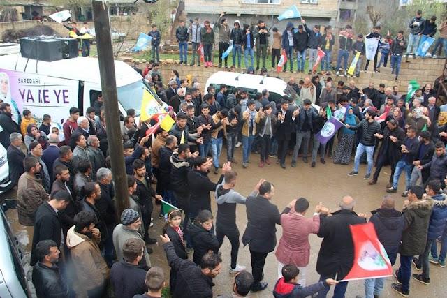 HDP Bozova'da zafer ilan etti