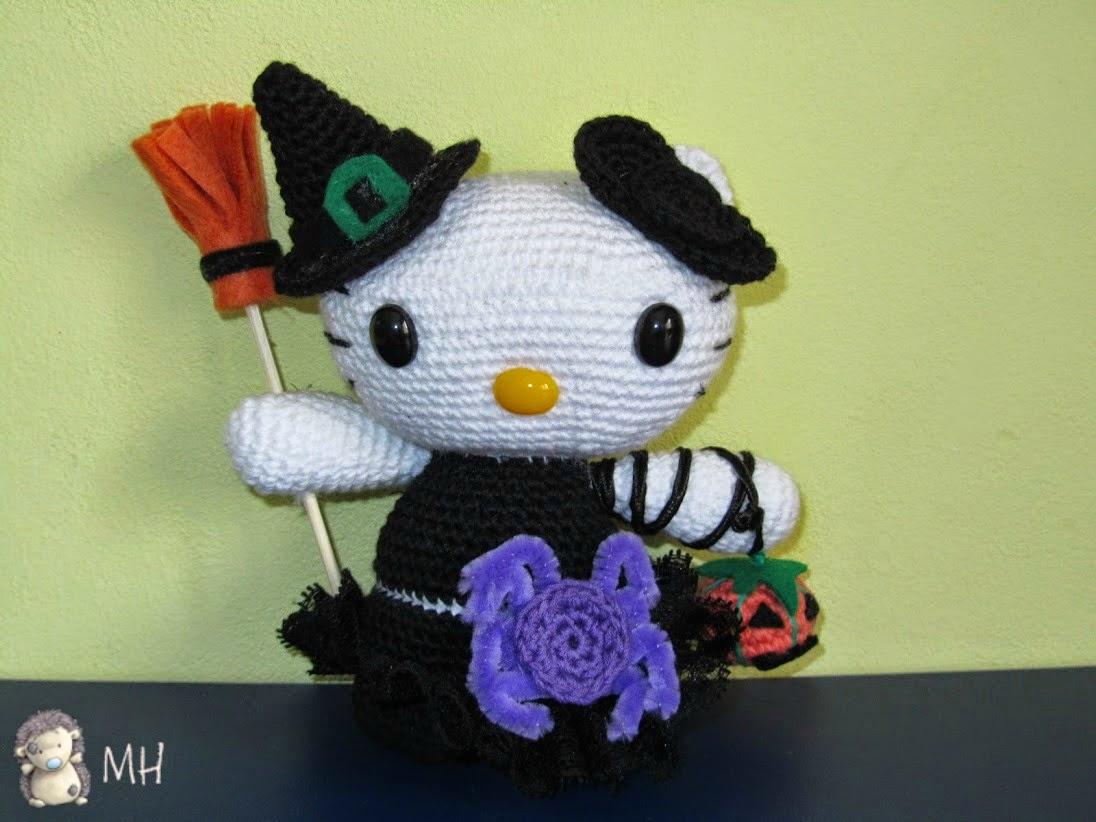 Hello Kitty de Halloween amigurumi