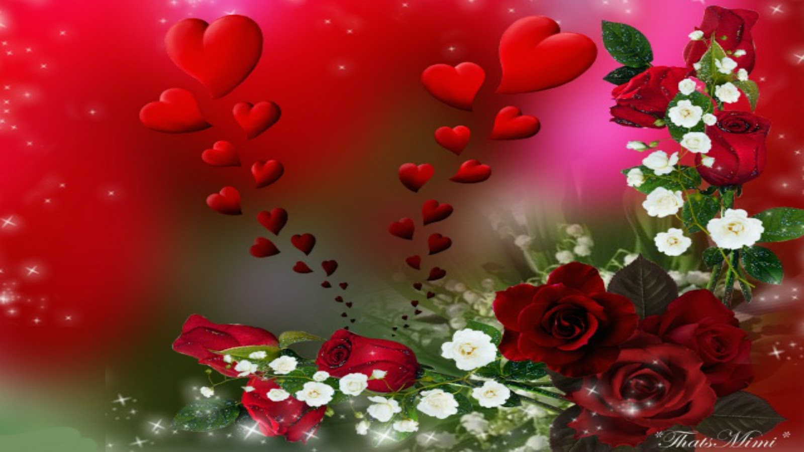 Pictures collection flower heart wallpapers flower heart wallpapers izmirmasajfo