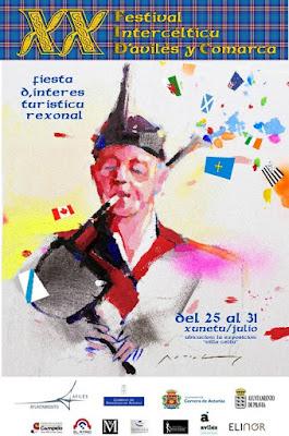 Cartel del festival intercéltico de Avilés