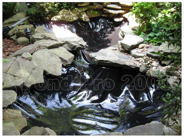 Pond repair pond liner repair with 4 hour timer period for Fish pond repair