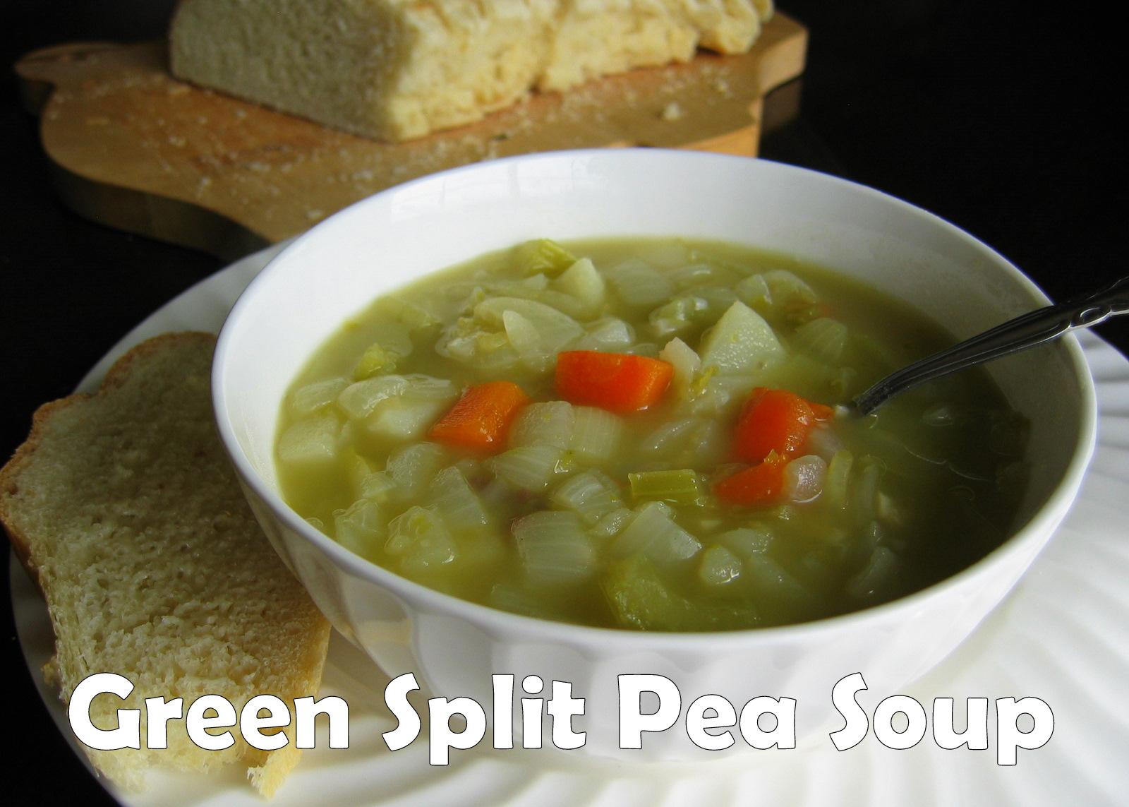 Pink Cookies with Sprinkles: Green Split Pea Soup...Frugal ...