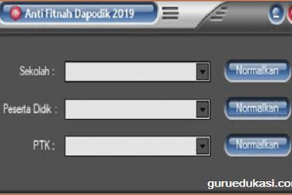 Download Anti Fitnah Dapodik 2019 Update Terbaru Untuk Memperbaiki Data Invalid