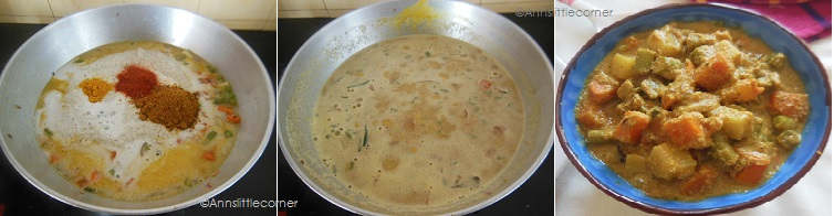 How to make  Mix Veg Kurma- Step 4