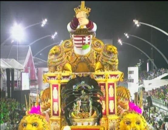 """Magyar """"királyok"""" vonultak a brazil karneválon + videó"""