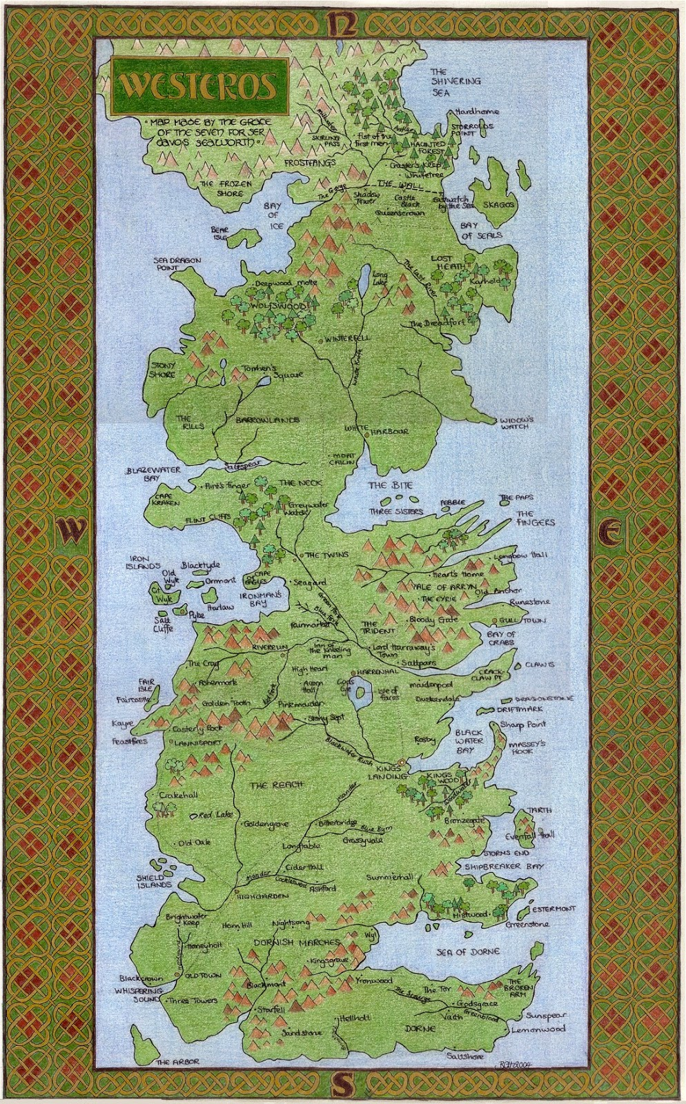 Westeros map for Game of Thrones |Westeros Map