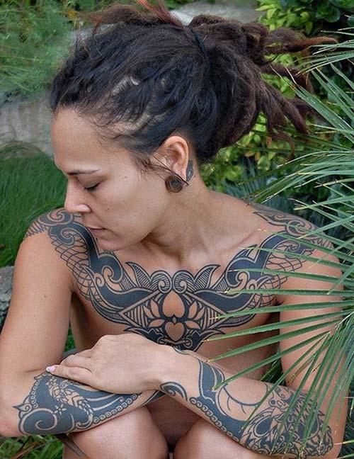 kadın maori tribal dövmeleri woman maori tribal tattoos 39