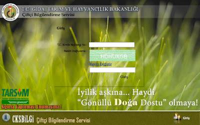 Çiftçi bilgilendirme servisi giriş