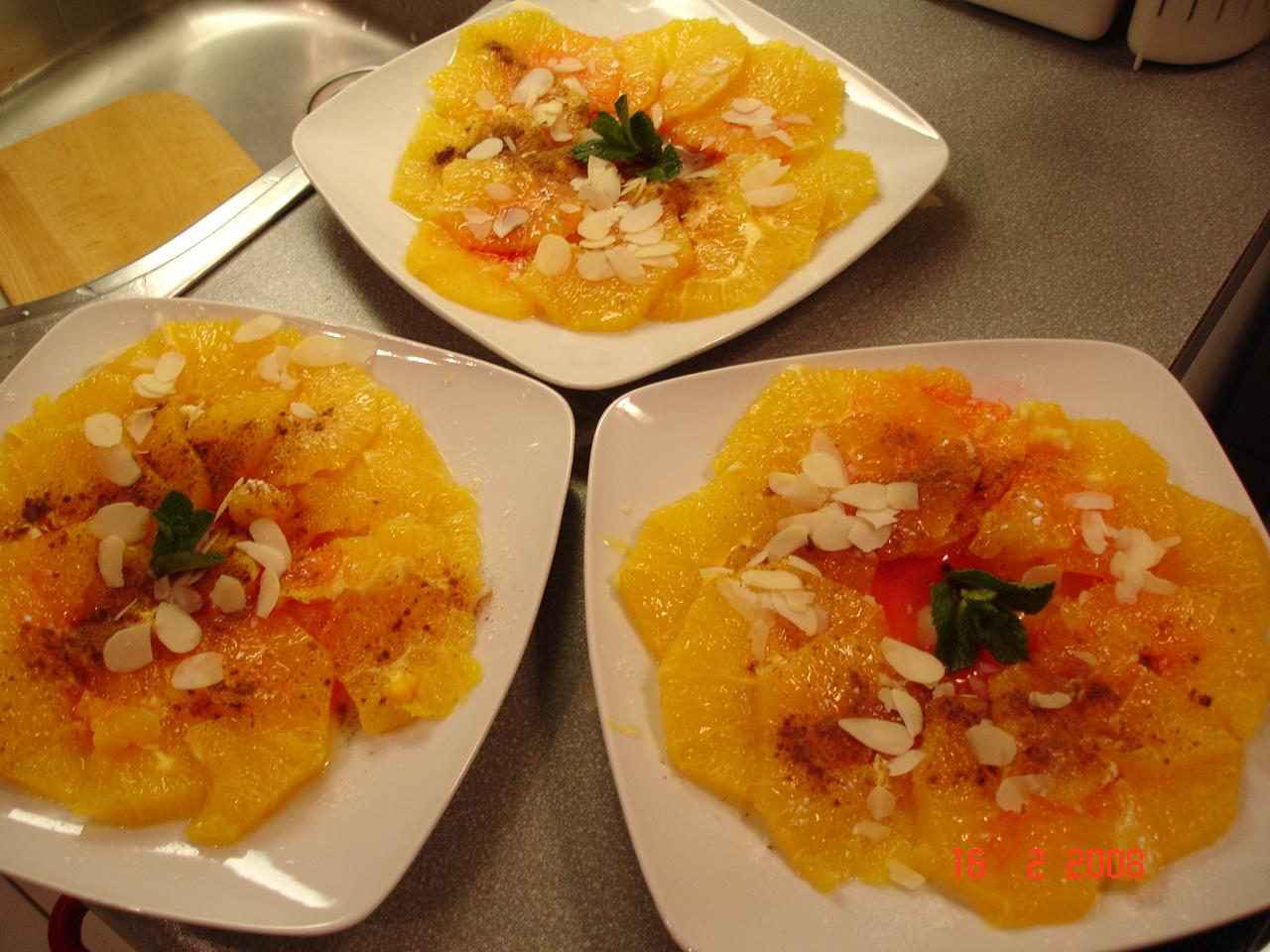 Patty fait sa cuisine salade d 39 oranges - Samantha fait sa cuisine ...