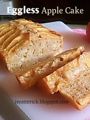 Eggless Apple Cake Recipe @ treatntrick.blogspot.com