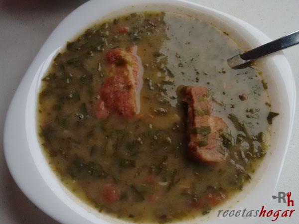 Receta potaje canario de coles