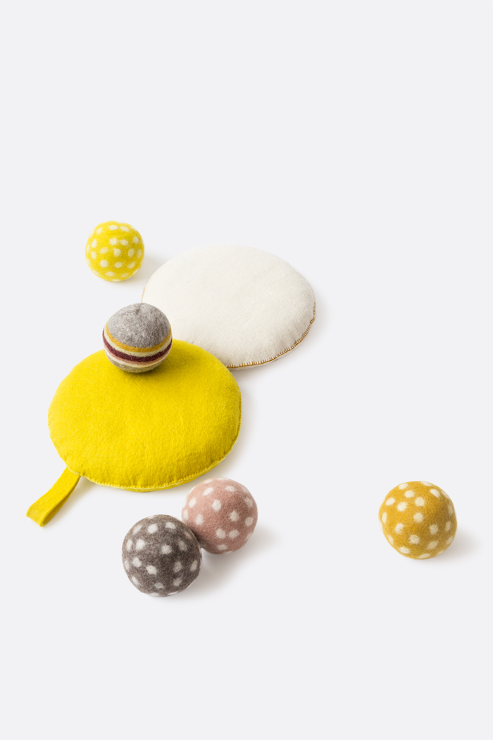 Felt pillows and balls