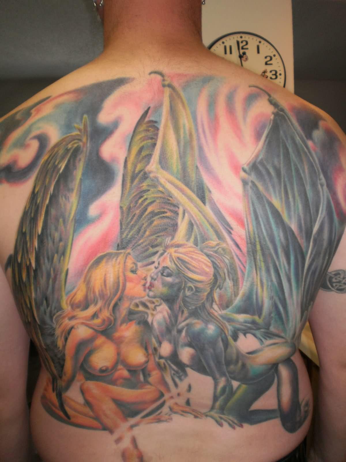 angel devil shoulder tattoo - photo #28