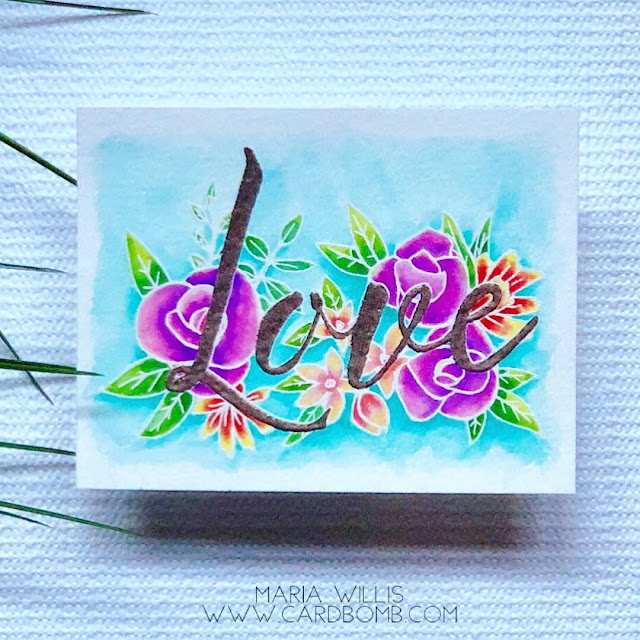 #art, #arteza, #artezarealbrushpens, #cardbomb, #cards, #color, #concord&9th, #craft, #create, #handmade, #love, #mariawillis, #paint, #watercolor, #wowembossing, #distressinks, #handmadecards, #valentinesday,