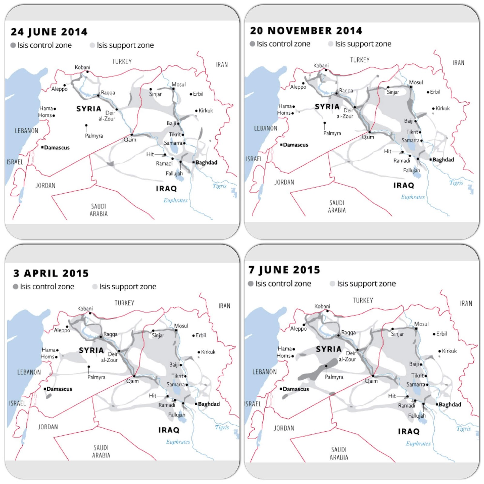 ISIS control zone (2014-2015)