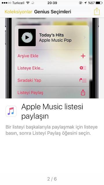 Apple Müzik listenizi arkadaşlarınızla paylaşabilirsiniz