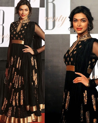 Dress no 14 - Deepika's Black outfit from an Award Function