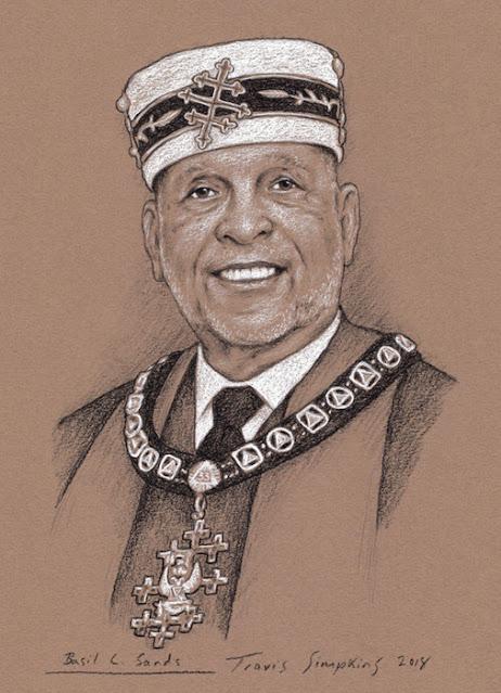 Basil Sands, 33°. Past Sovereign Grand Commander. Prince Hall Scottish Rite. by Travis Simpkins