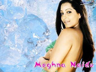 Meghna Naidu Holding Bra On Her Breast
