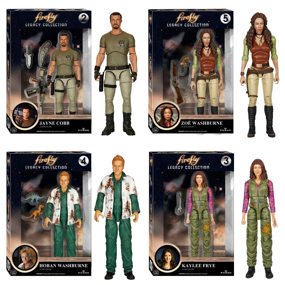 Firefly Legacy Collection Series 1 Action Figures - Jayne Cobb, Zoe Washburne, Hoban Washburne & Kaylee Frye