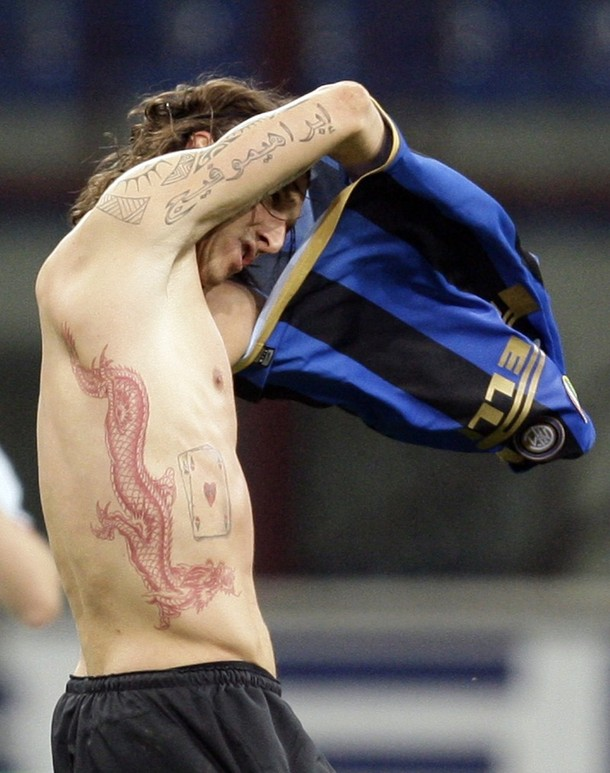 Zlatan Ibrahimovic Tattoo 2014 Eagle Tattoo