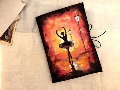 Jurnal handmade cu balerina | Jurnal din piele