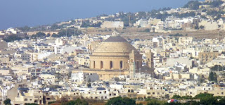 Mosta vista desde Mdina.