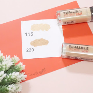 loreal-infallible-24h-stay-fresh-foundation-spf-20-115-and-220-swatch.jpg