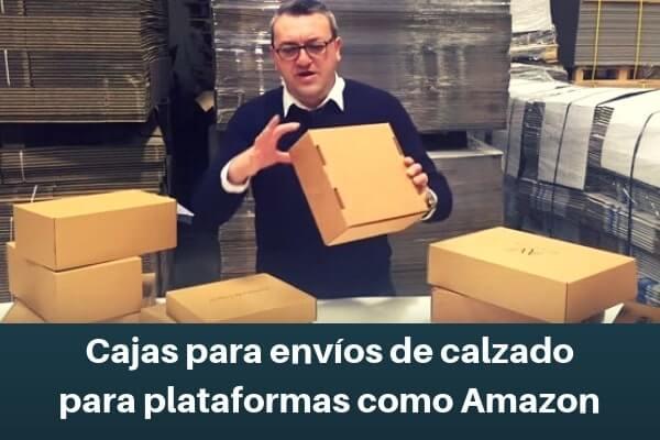 Cajas para envíos de calzado para plataformas como Amazon