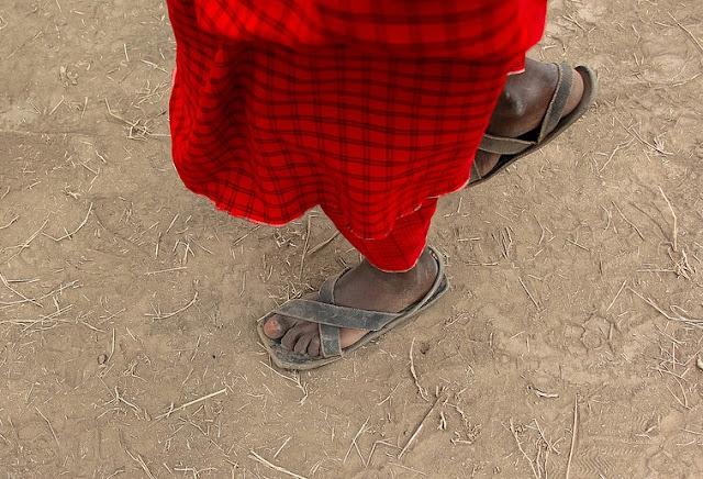 Massi traveling across Kenya