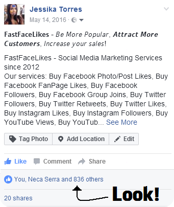Buy Facebook Post Likes Demo