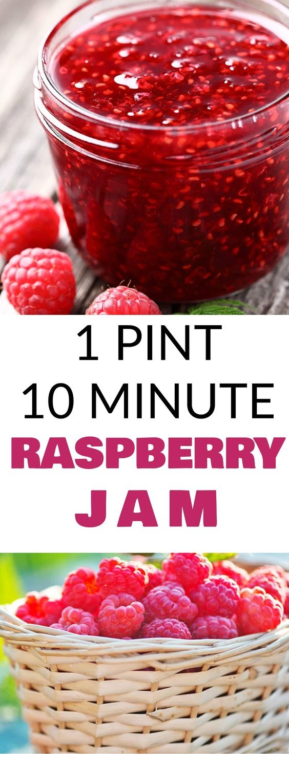 10 Minute Raspberry Jam Recipe