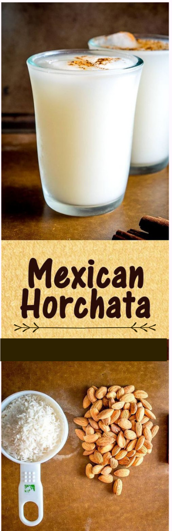 RICE AND ALMOND DRINK #Mexican