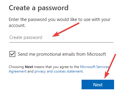 create-password-for-account