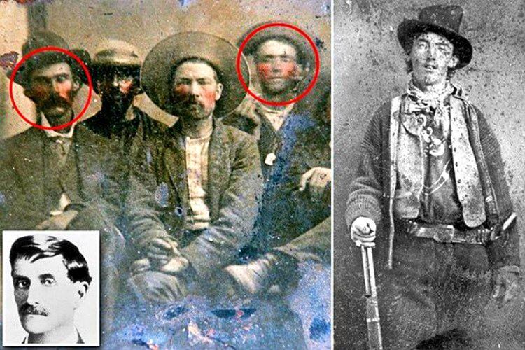 Billy The Kid ve Şerif Pat Garrett'ın aynı karede olduğu fotoğraf, değeri bilinmediği için bit pazarında 10 dolara satıldı.