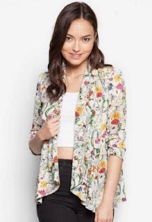 Model baju batik kerja blazer