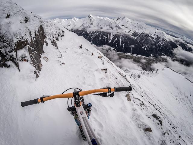 Fatbike Winter Erstbefahrung Wolfendorn 2776 m am Brenner