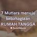 7 Mutiara Menuju Kebahagiaan Rumah Tangga (Sebuah Nasihat Perkawinan)